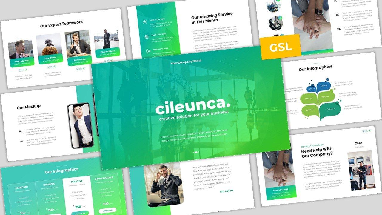 Cileunca - Creative Business Google Slides Template Google Slides #102478