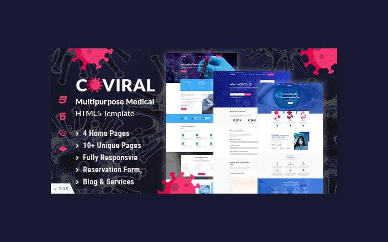 """Coviral | Coronavirus & COVID-19 Prevention"" Responsive Website template №102405"
