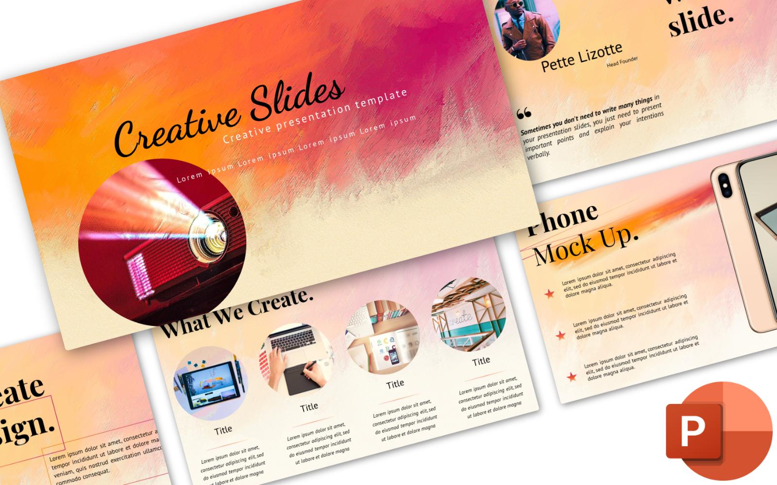 Creative Design Paints PowerPoint Template