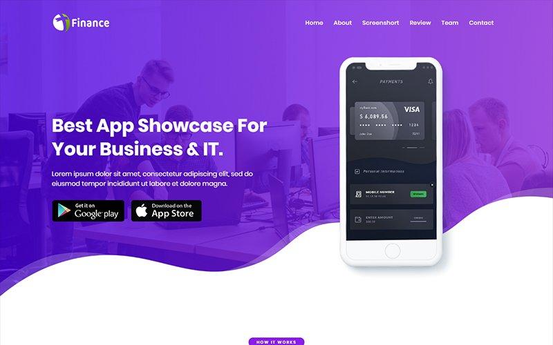 """Finance - App HTML"" Responsive Landingspagina Template №102492"