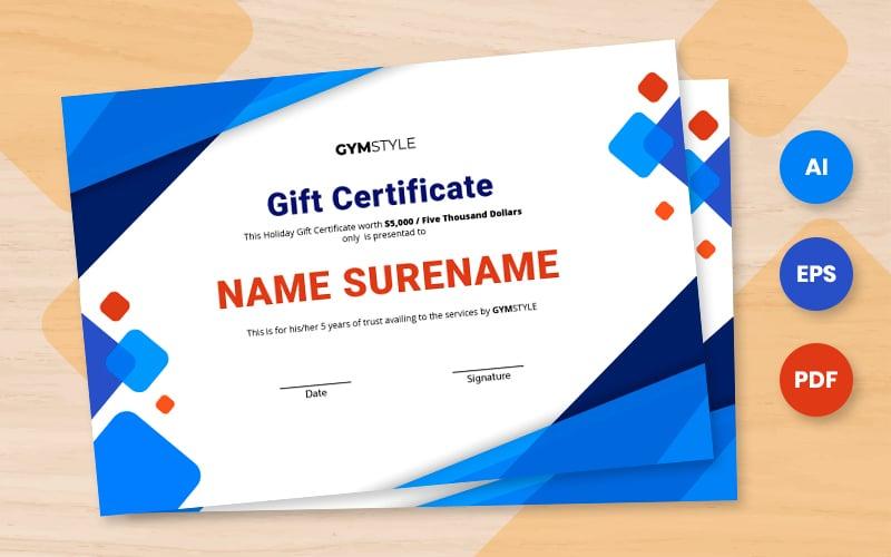 Free clean gift certificate template Certificate Template