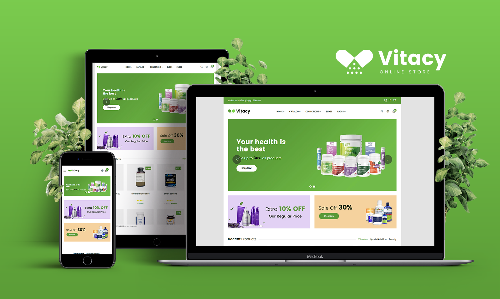 """""""Gts Vitacy - Medical & Health"""" Bootstrap Shopify Thema №102487"""