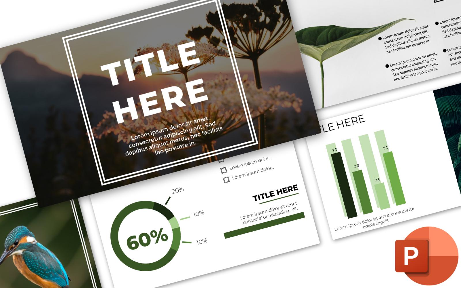 Organic Nature PowerPoint Template