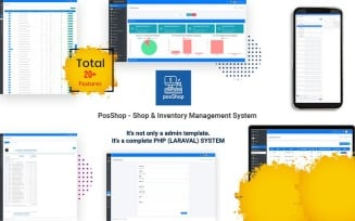 PosShop- Laravel Shop & Inventory Management System Admin Template