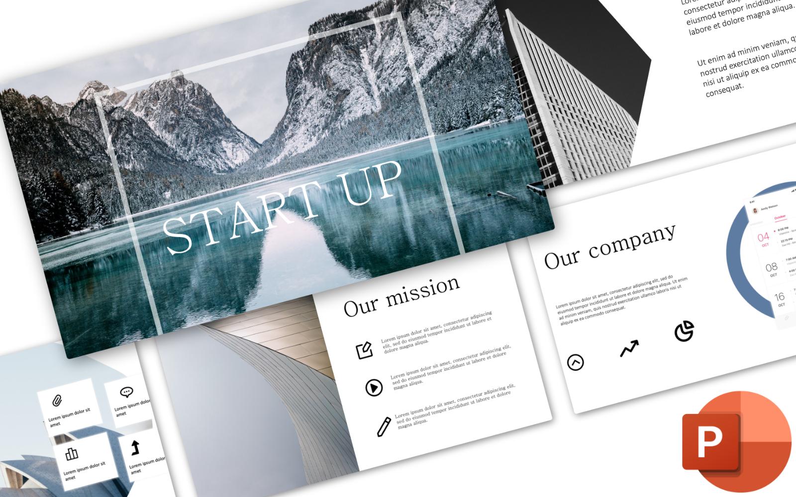 """PowerPoint Vorlage namens """"Startup Pitch Deck"""" #102417"""