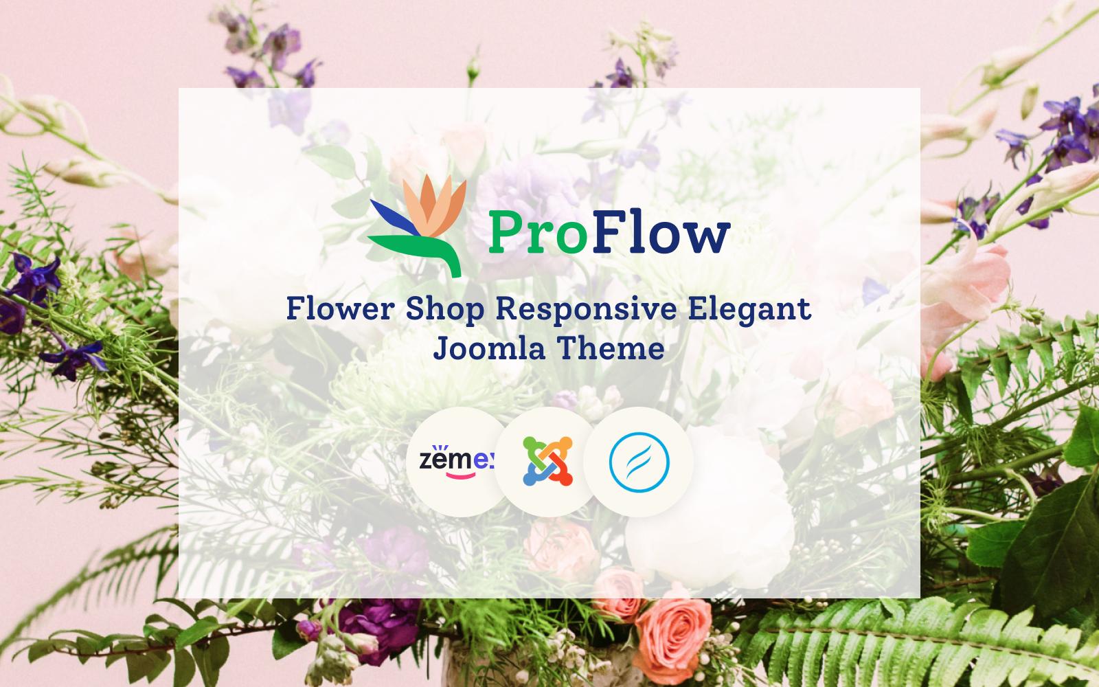 """""""ProFlow - Flower Shop Responsive"""" Responsive Joomla Template №102409"""