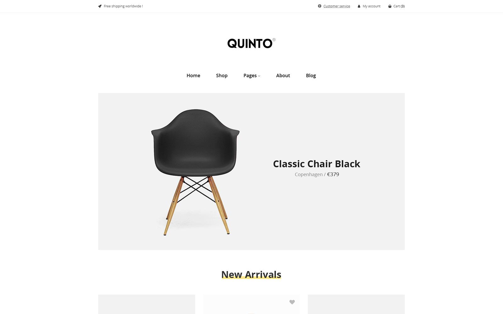 """""""Quinto"""" Responsive WooCommerce Thema №102488"""