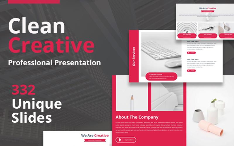 Szablon Keynote Clean Creative #102499