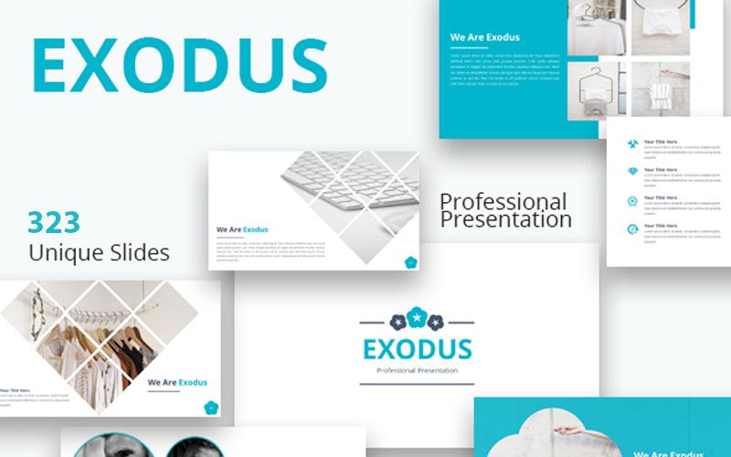 """Tema Google Slides #102498 """"Exodus"""""""