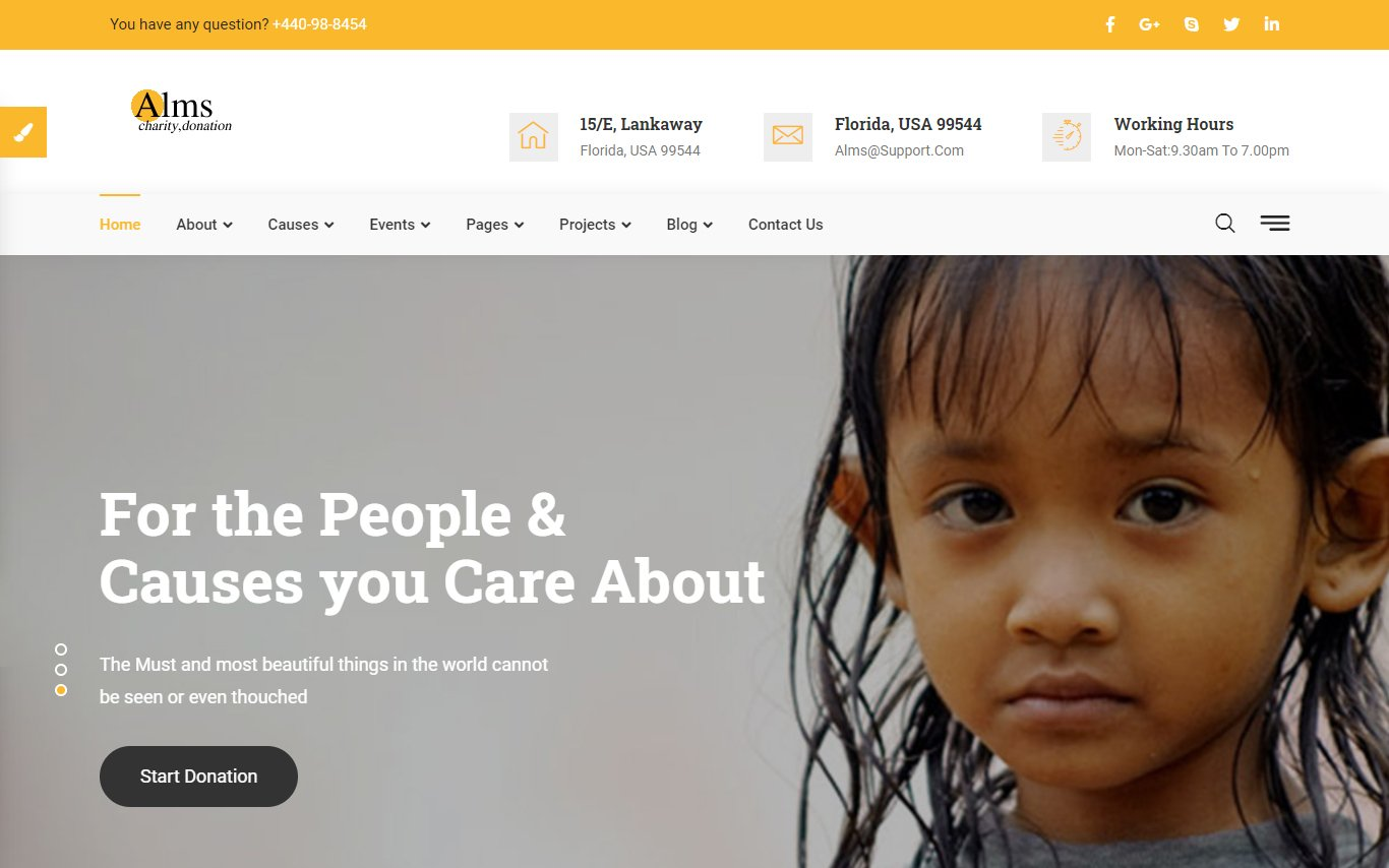 Alms - Charity Bootstrap Website Template
