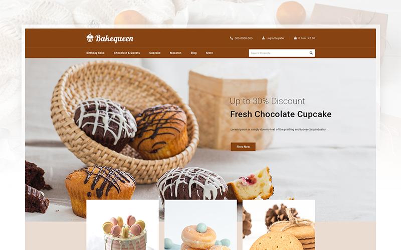 """""""Bakequeen - Bakery Store"""" 响应式PrestaShop模板 #102598"""