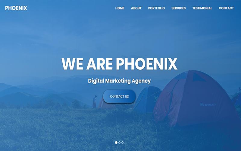 "Landing Page Template namens ""Phoenix - Multipurpose HTML"" #102542"
