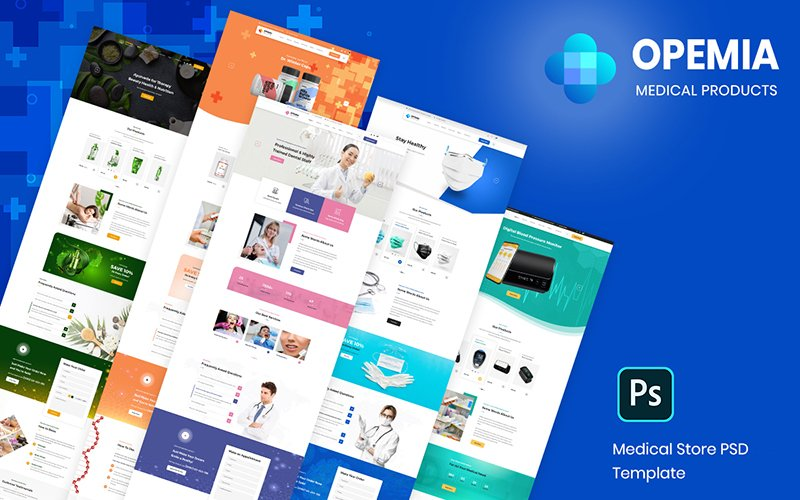 Opemia - Medical Products or Services PSD Template