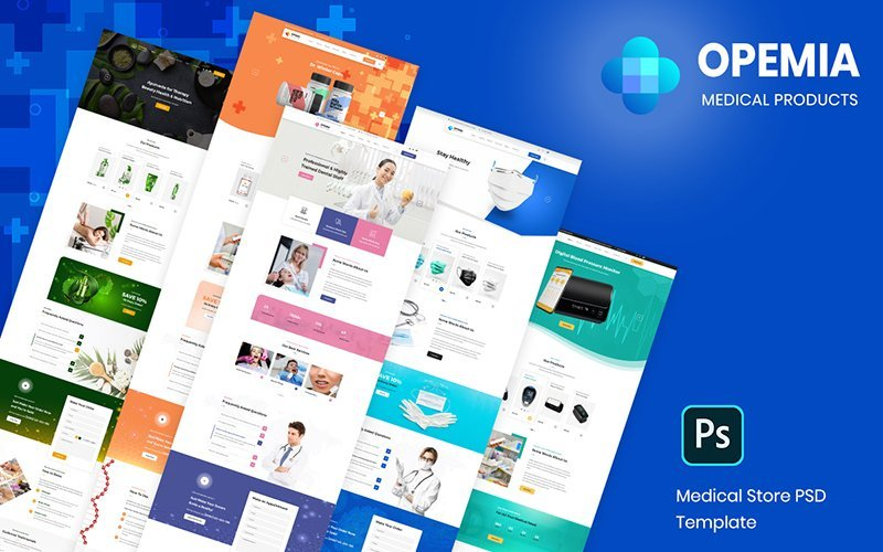 Opemia - Medical Products or Services Template Photoshop №102541