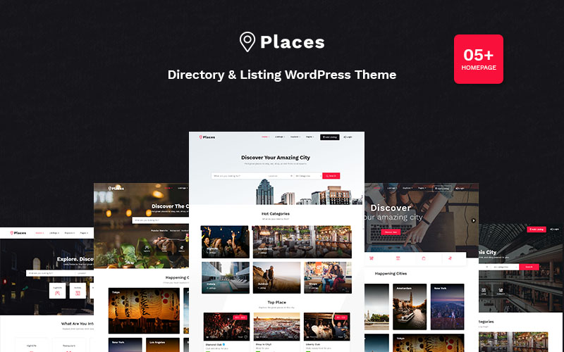 """Places - Directory & Listing"" - адаптивний WordPress шаблон №102597"