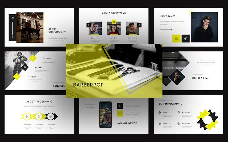"Plantilla Keynote ""Barberpop – Creative Business"" #102528"