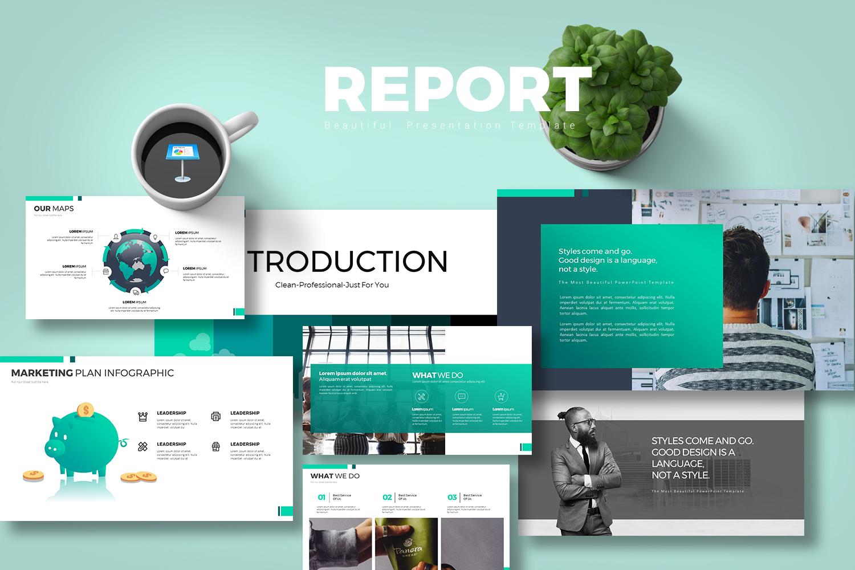 "Plantilla Keynote ""Report"" #102527"