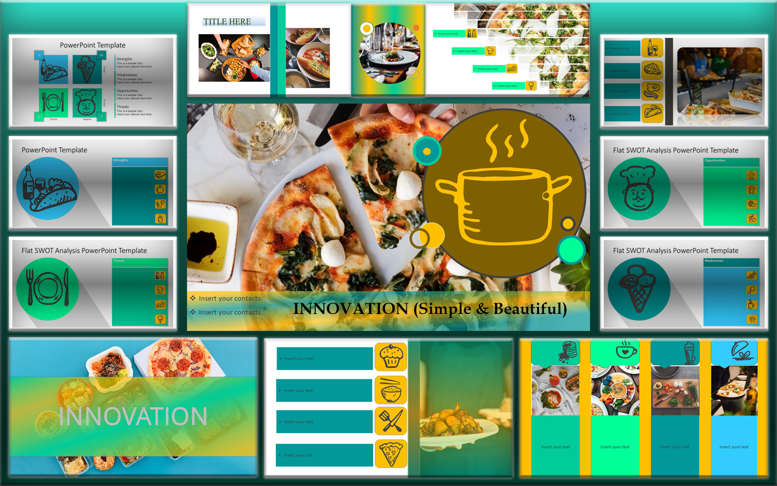 "Plantilla PowerPoint ""Creative Food Restaurant"" #102519"