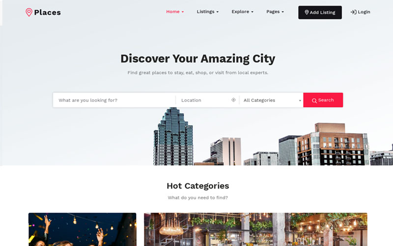 Responsivt Places - Directory & Listing WordPress-tema #102597