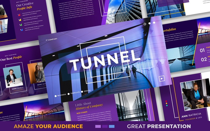 Szablon PowerPoint Tunnel – Modern Presentation #102578