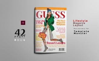 Lifestyle Layout Magazine Template#1