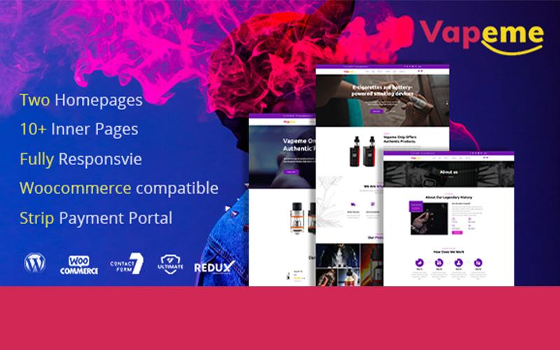 """Vapeme | Modern Vape Shop"" 响应式WordPress模板 #102600"