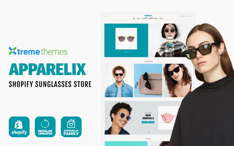 """Apparelix Sunglasses Store"" 响应式Shopify模板 #102714"