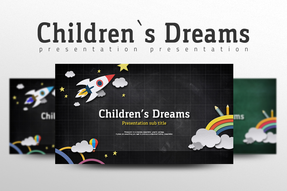 Children's Dreams PowerPoint Template