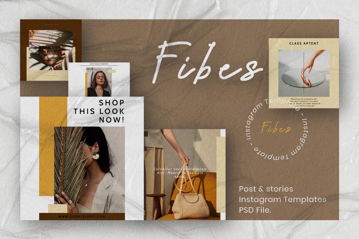 Fibes - Instagram Template Social Media