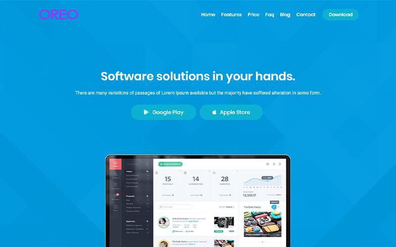 Oreo - App Landing Page Template