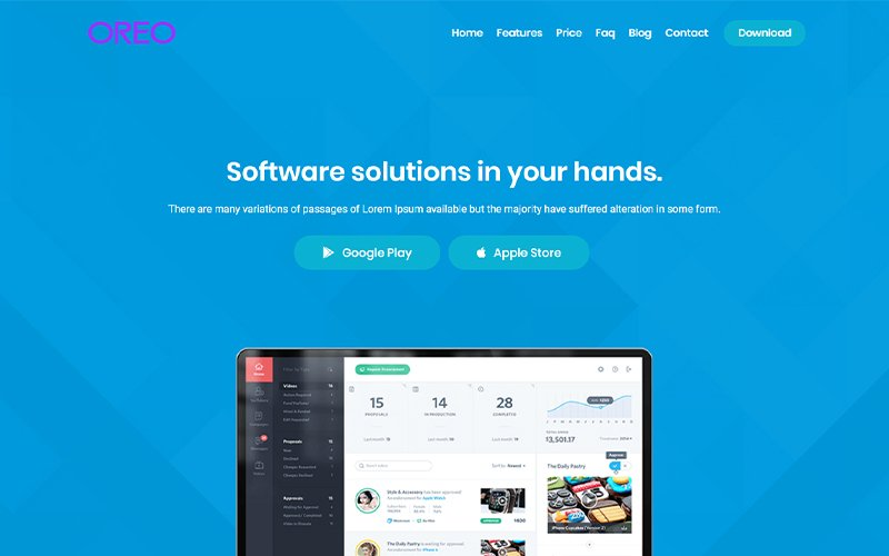Oreo - App Templates de Landing Page №102768