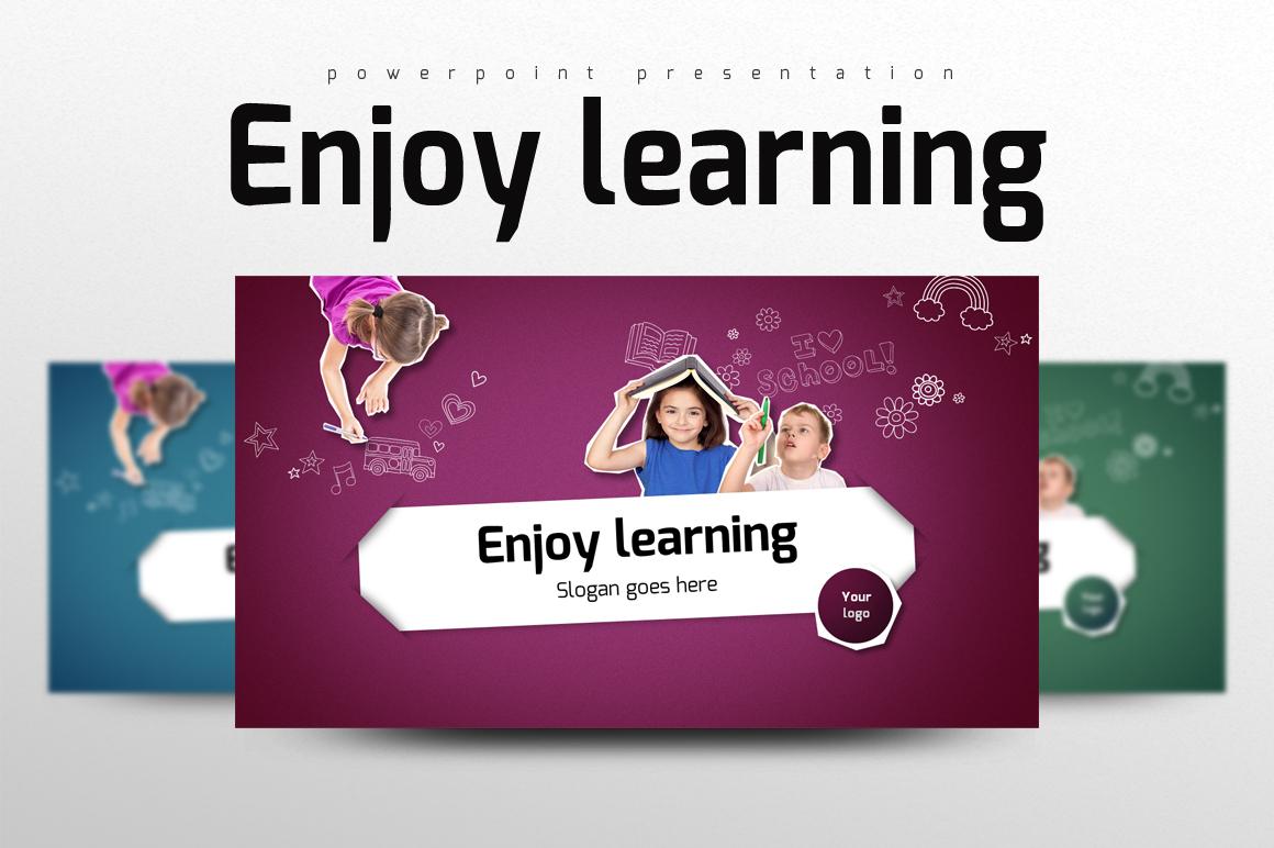 "PowerPoint Vorlage namens ""Enjoy Learning"" #102757"