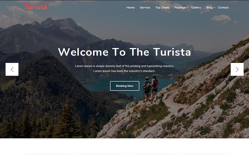 """""""Turista - Tour and Travel Agency"""" thème WordPress  #102710"""
