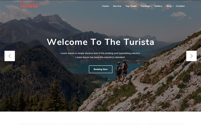 """Turista - Tour and Travel Agency"" WordPress模板 #102710"