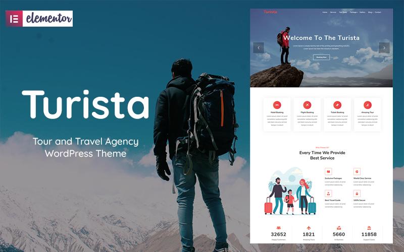 """Turista - Tour and Travel Agency"" - WordPress шаблон №102710"