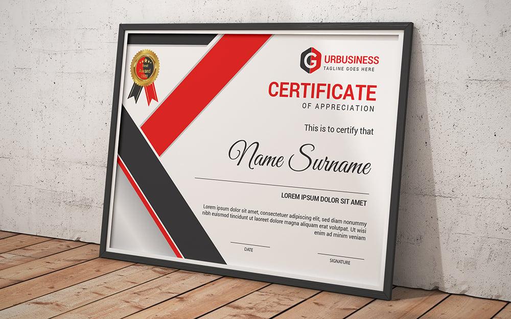Appreciation Template de Certificado №102838
