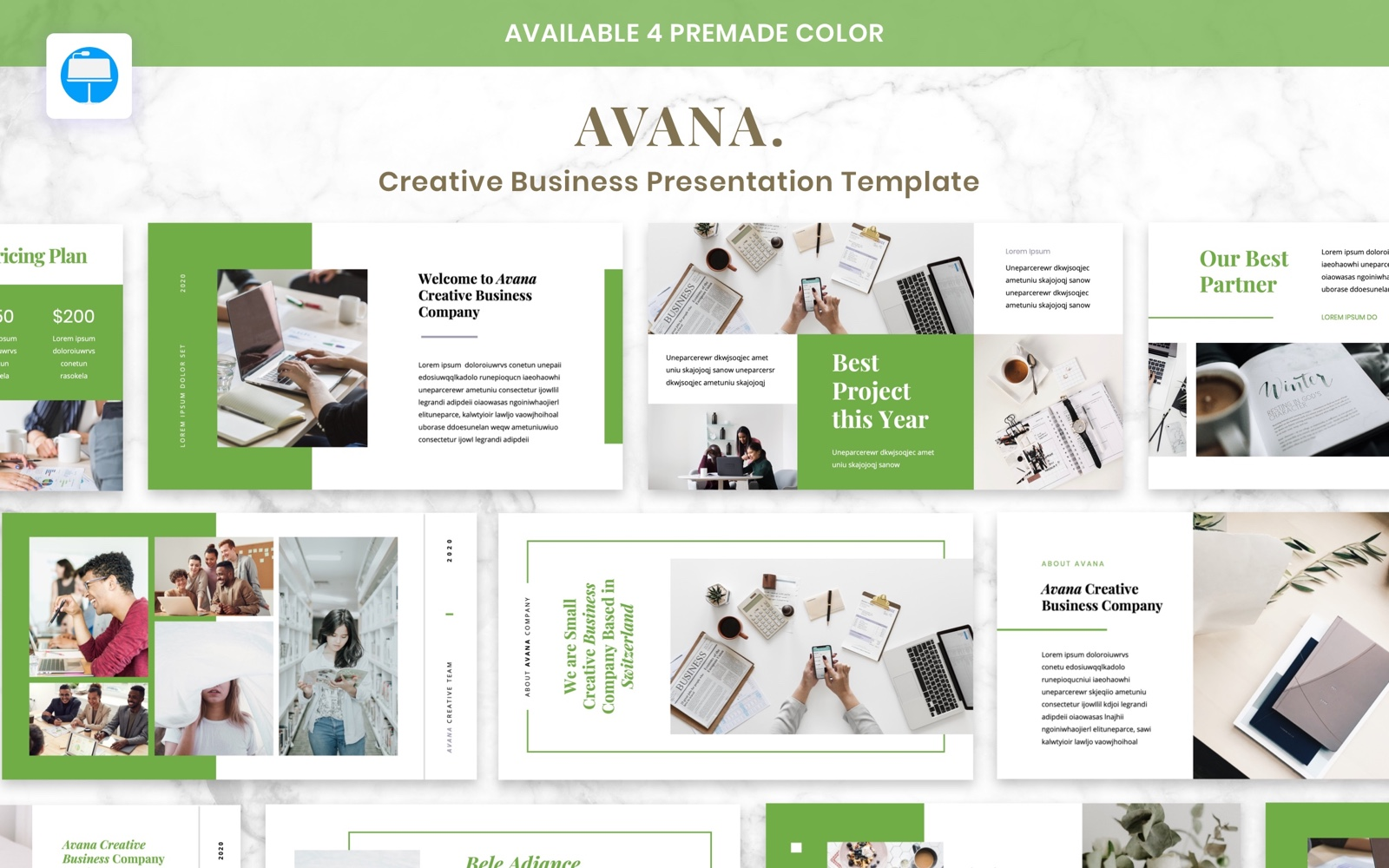 """Avana - Creative Business"" - Keynote шаблон №102833"