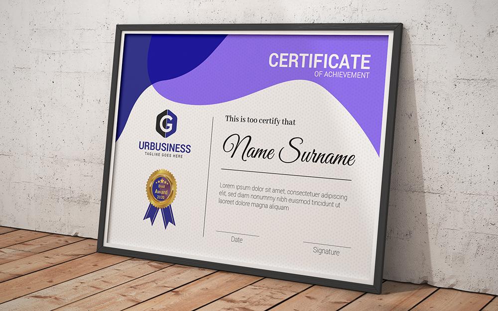 Completion Template de Certificado №102841