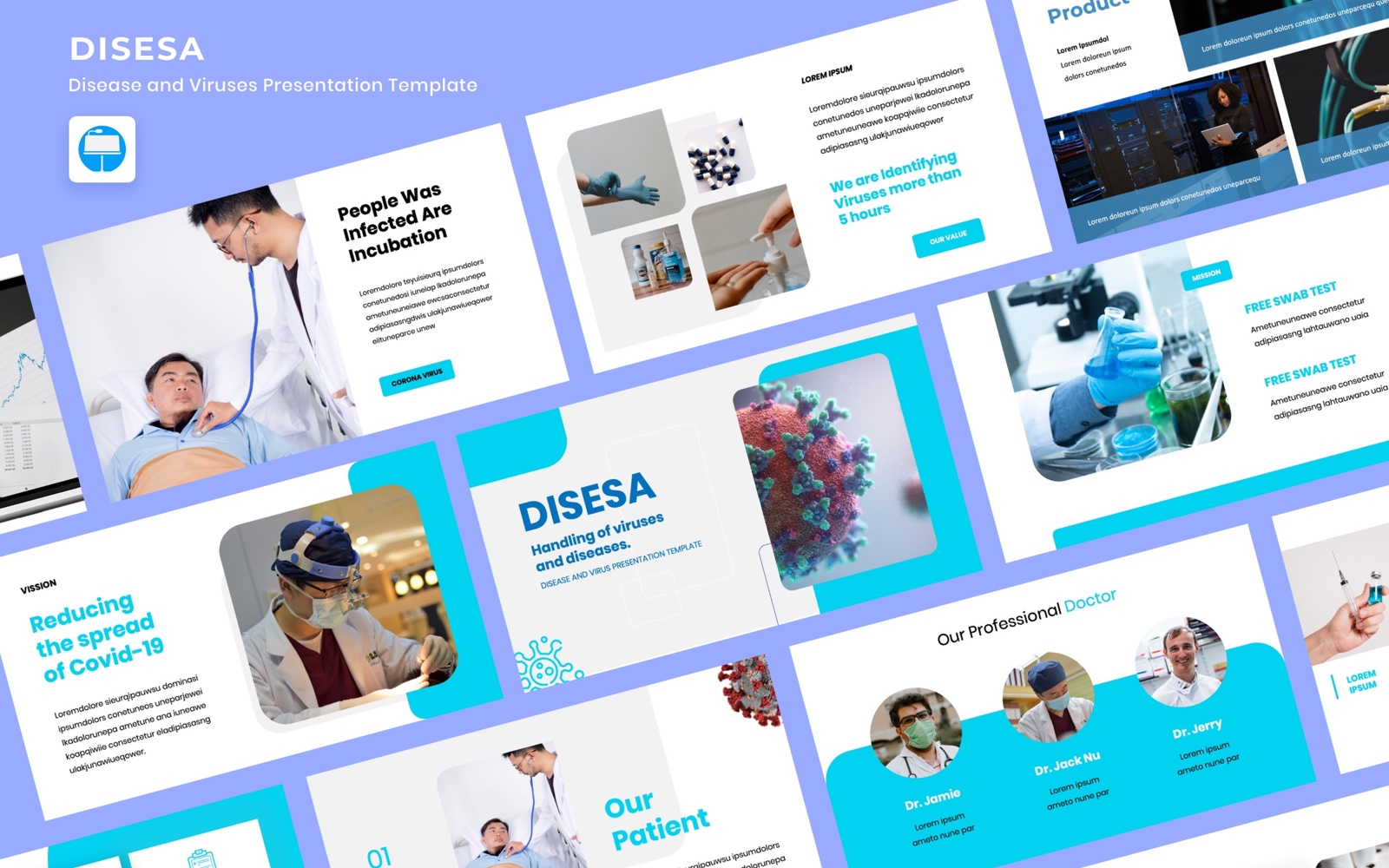 Disesa - Covirus and Health Template para Keynote №102829