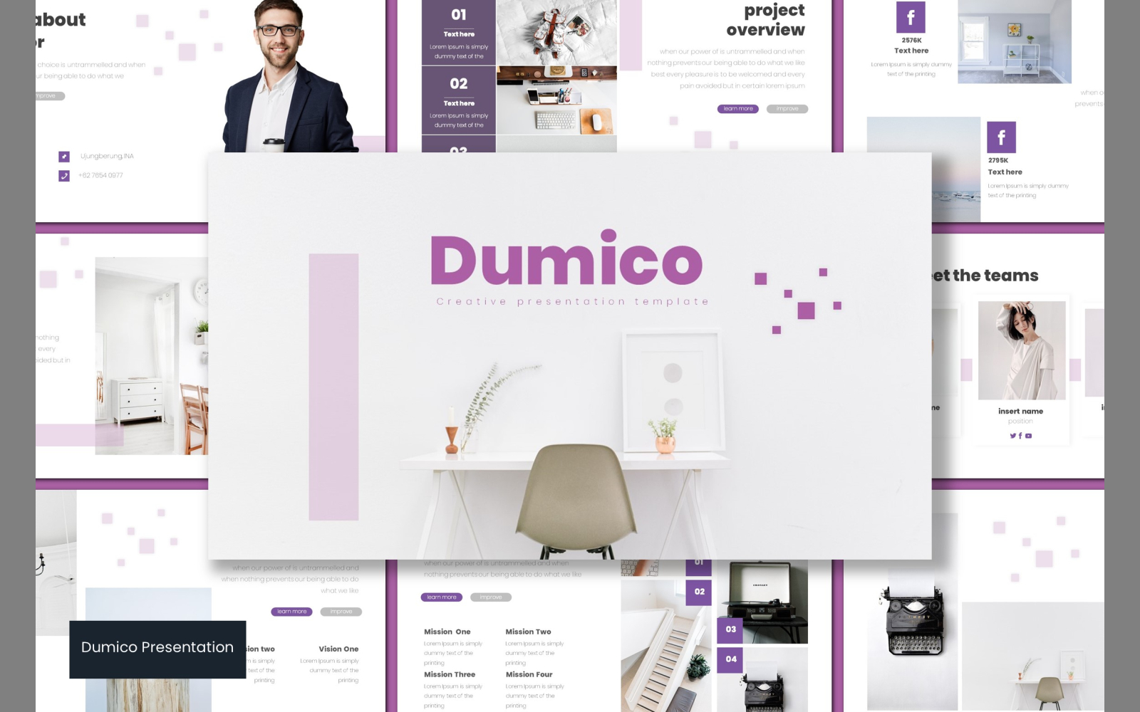Dumico Template PowerPoint №102878