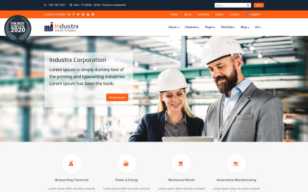 Industrx Business-Industry Joomla Template