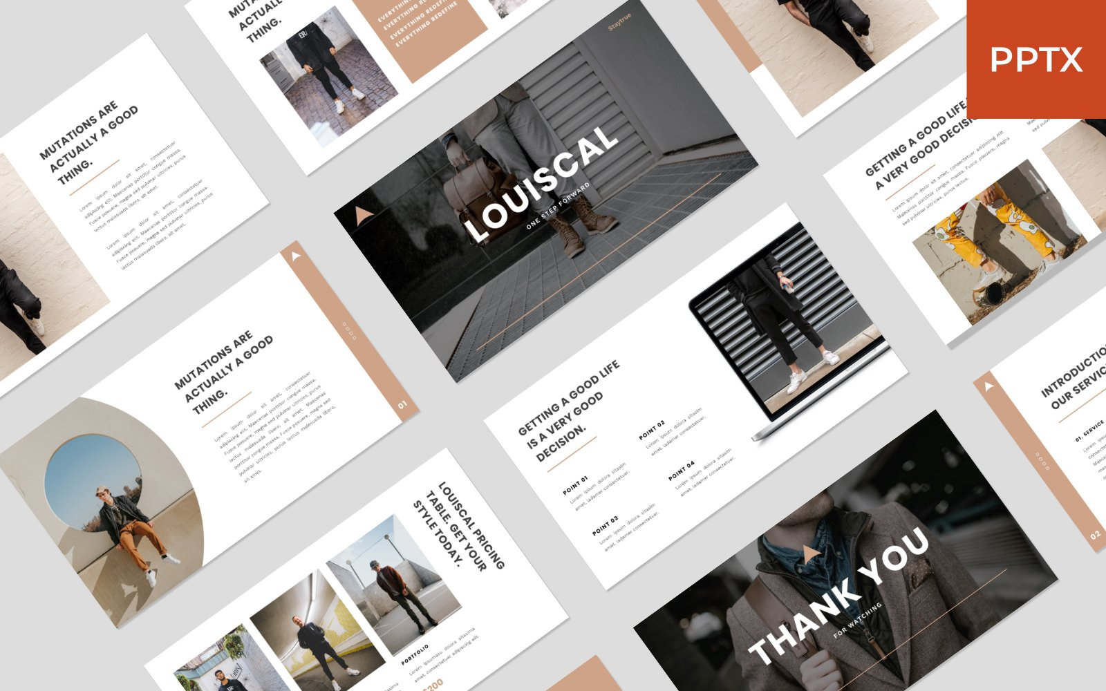 LOUISCAL - Business Creative PowerPoint Template