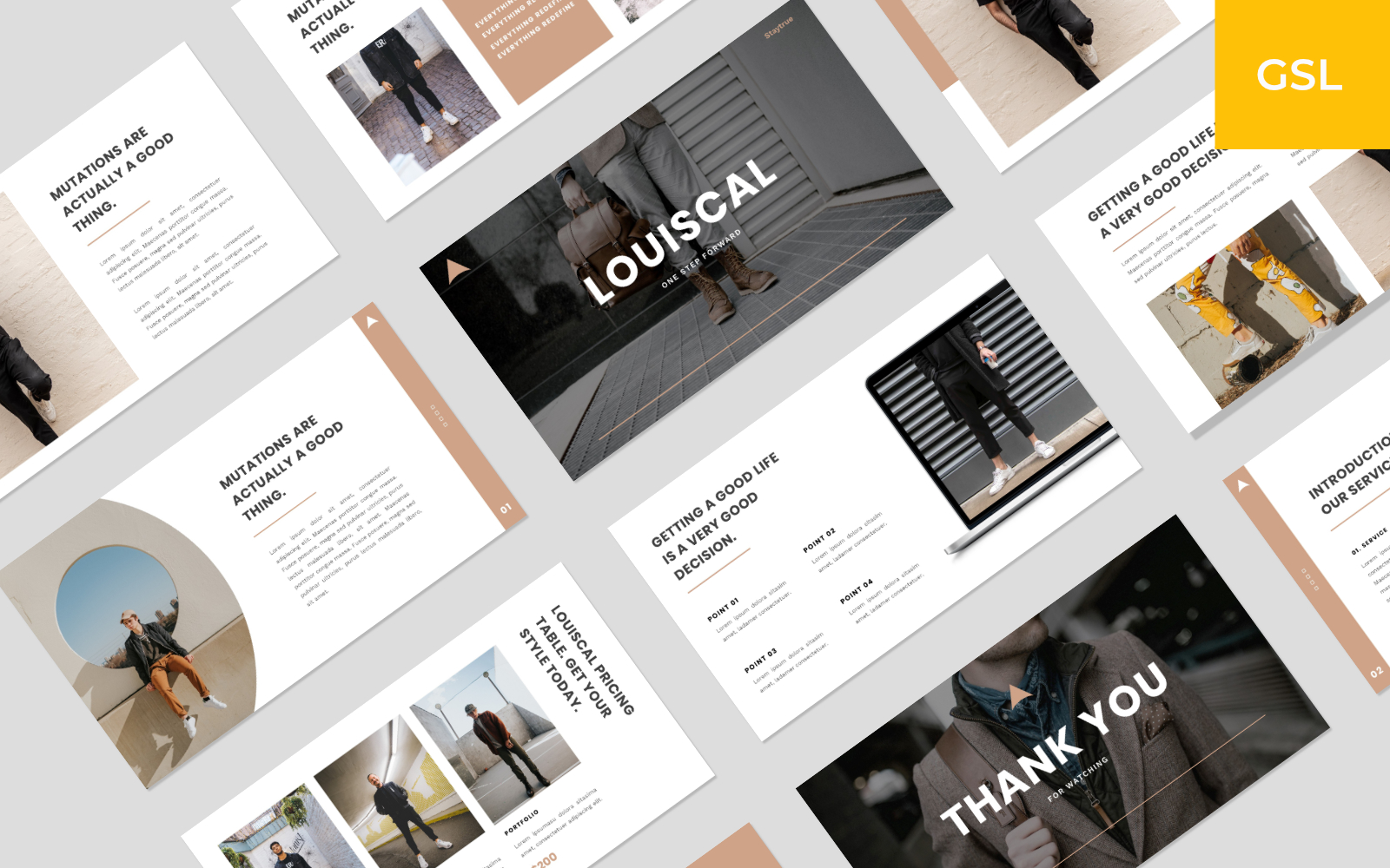 LOUISCAL - Business Creative Template Google Slides