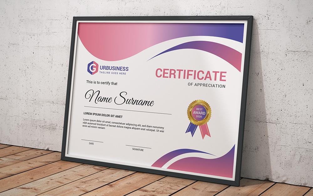 """Plantilla De Certificado """"Completion Award"""" #102842"""