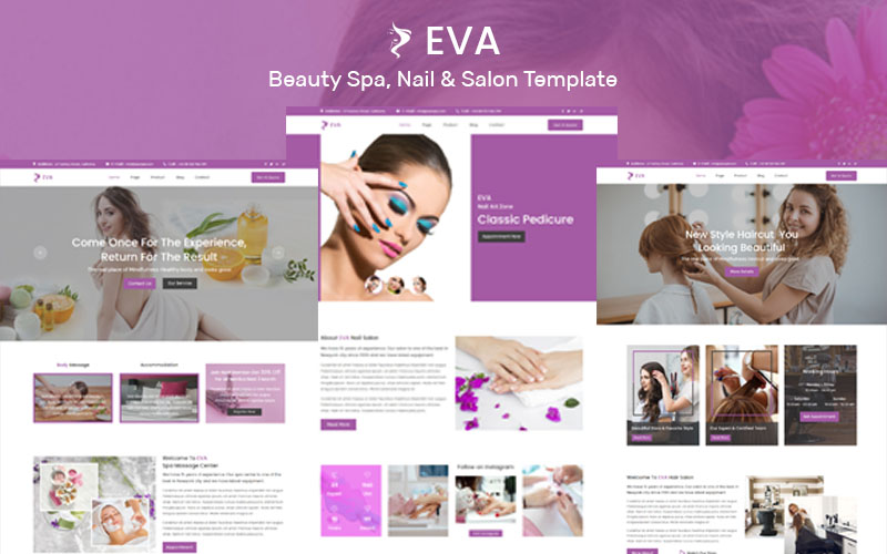 "Plantilla Muse ""EVA- Beauty Spa, Nail & Salon"" #102886"