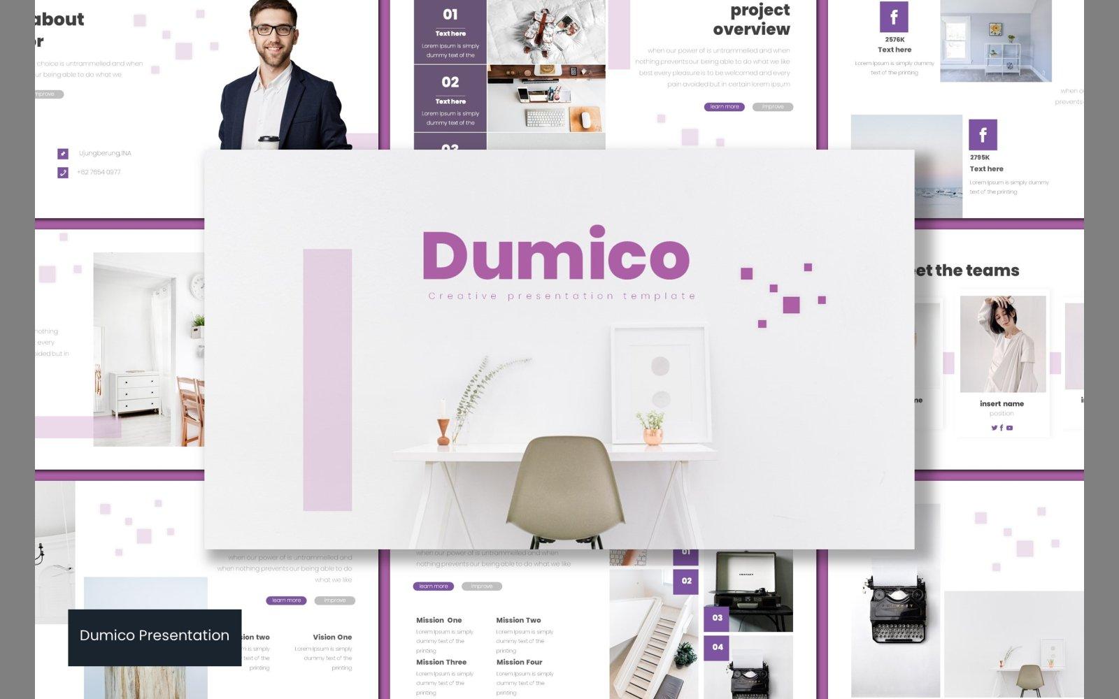 "Plantilla PowerPoint ""Dumico"" #102878"