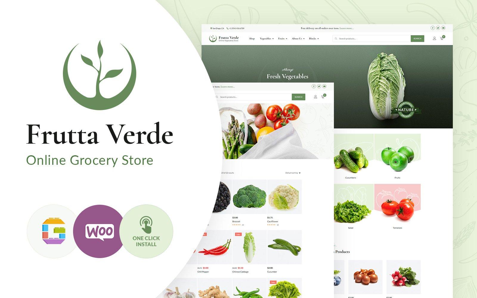 Responsywny motyw WooCommerce Frutta Verde #102891