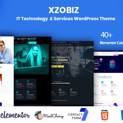 """Responzivní WordPress motiv """"Xzobiz -  IT Technology & Services"""" #102885"""