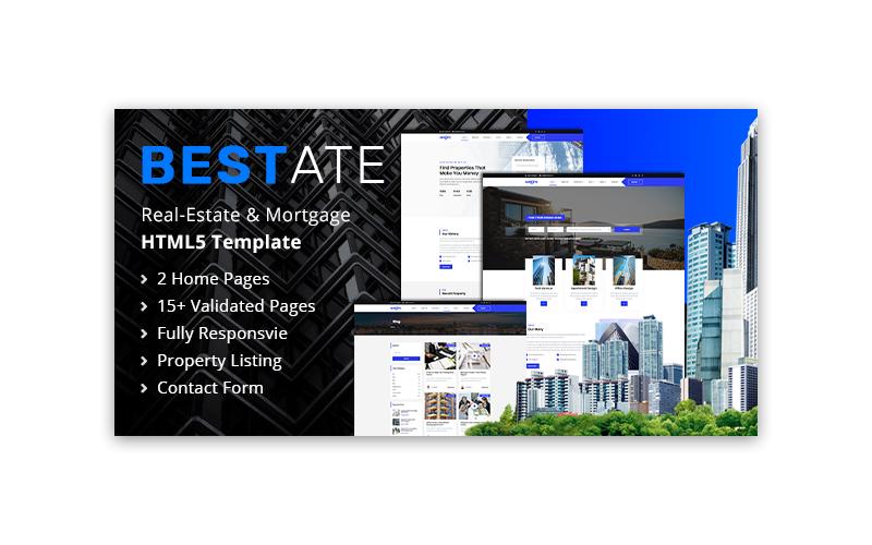 Reszponzív Bestate | Real Estate HTML5 Weboldal sablon 102883