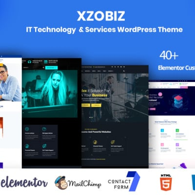 "Tema WordPress Responsive #102885 ""Xzobiz -  IT Technology & Services"" #102885"